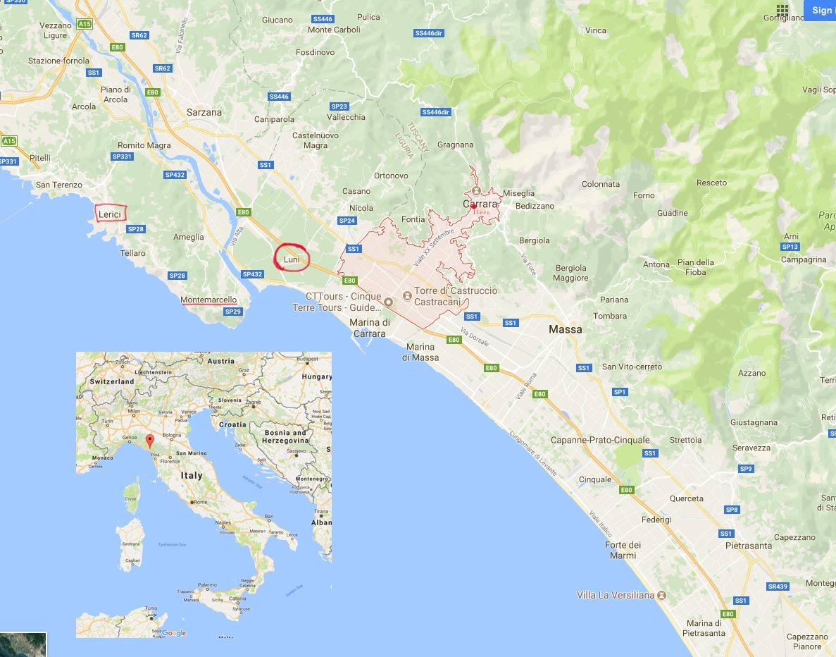 Carrara-Luni-Lerici-Italy